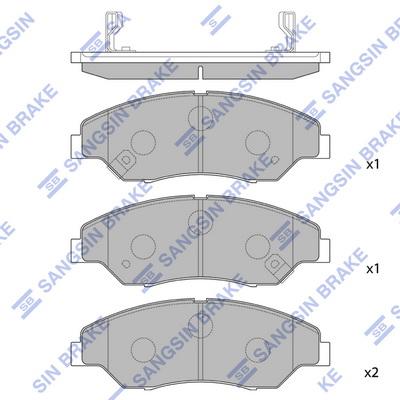 Тормозные колодки передние дисковые MINTEX арт. SP1118