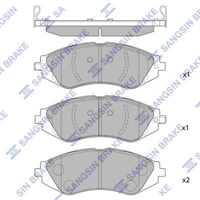 Тормозные колодки передние дисковые MINTEX арт. SP1159