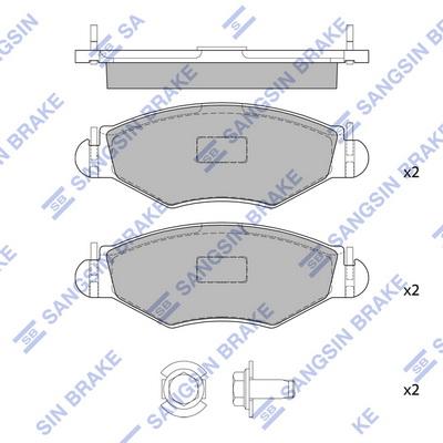 Тормозные колодки передние дисковые MINTEX арт. SP1179