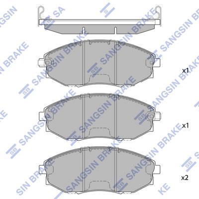 Тормозные колодки передние дисковые MINTEX арт. SP1193
