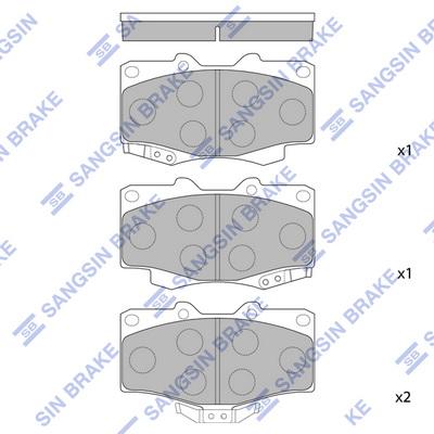 Тормозные колодки передние дисковые MINTEX арт. SP1222