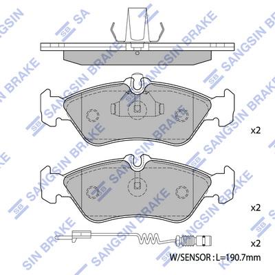 Тормозные колодки задние дисковые MINTEX арт. SP1274