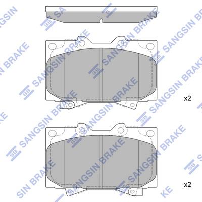 Тормозные колодки дисковые MINTEX арт. SP1379