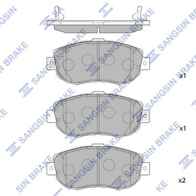 Тормозные колодки передние дисковые MINTEX арт. HQ SP1386