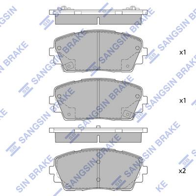 Тормозные колодки передние дисковые MINTEX арт. SP1405