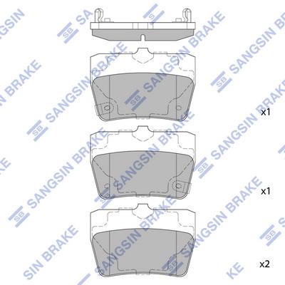 Тормозные колодки задние дисковые MINTEX арт. SP1457