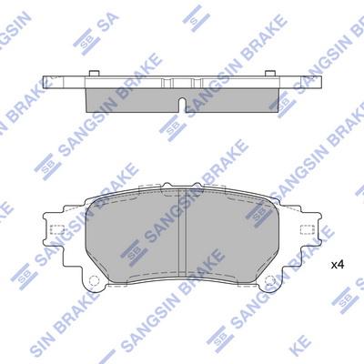 Тормозные колодки задние дисковые MINTEX арт. SP1458