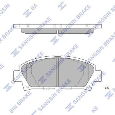 Тормозные колодки передние дисковые MINTEX арт. SP1466