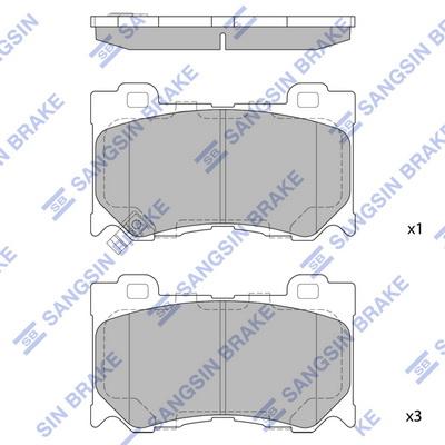 Тормозные колодки передние дисковые MINTEX арт. SP1471