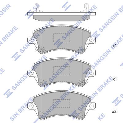 Тормозные колодки дисковые MINTEX арт. SP1502