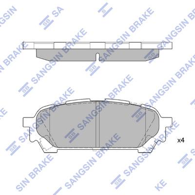 Тормозные колодки дисковые MINTEX арт. SP1532
