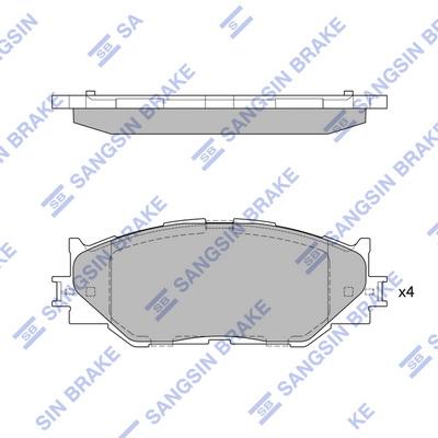 Тормозные колодки дисковые MINTEX арт. SP1543