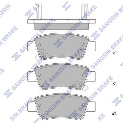 Тормозные колодки задние дисковые MINTEX арт. SP1568