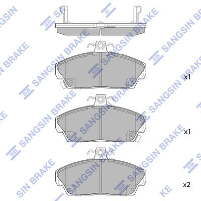 Тормозные колодки передние дисковые MINTEX арт. SP1571