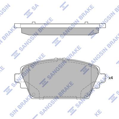 Тормозные колодки дисковые MINTEX арт. SP1582