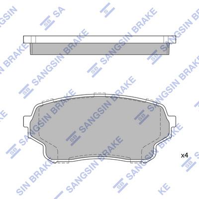 Тормозные колодки дисковые MINTEX арт. SP1583