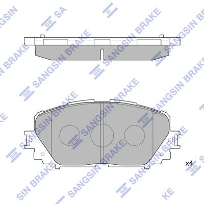 Тормозные колодки дисковые MINTEX арт. SP1588