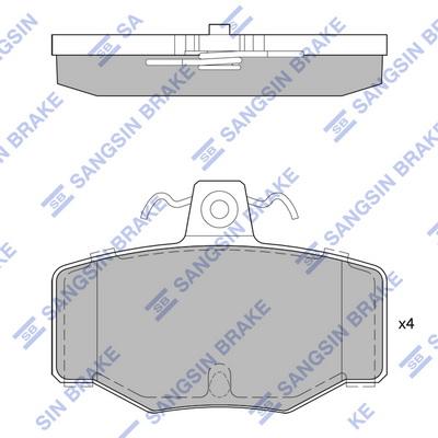 Тормозные колодки дисковые MINTEX арт. SP1741