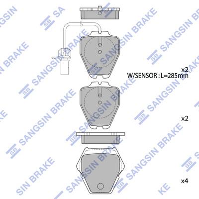 Тормозные колодки дисковые MINTEX арт. SP1790