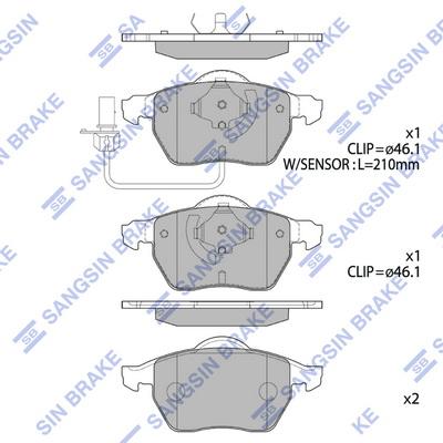 Тормозные колодки передние дисковые MINTEX арт. SP2001