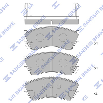 Тормозные колодки передние дисковые MINTEX арт. HQ SP2009