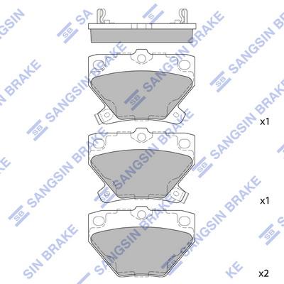 Тормозные колодки задние дисковые MINTEX арт. SP2044