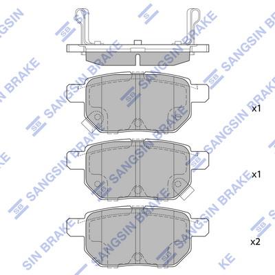 Тормозные колодки задние дисковые MINTEX арт. SP2094