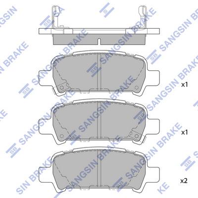 Тормозные колодки дисковые MINTEX арт. SP2120