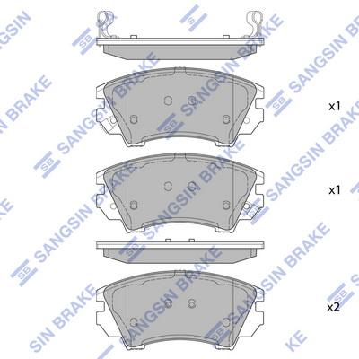 Тормозные колодки передние дисковые MINTEX арт. SP2175