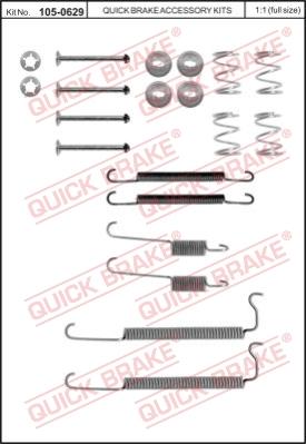 Комплектующие, тормозная колодка MINTEX арт. 105-0629