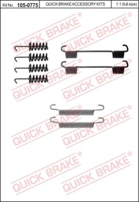 Ремкомплект тормозных колодок MINTEX арт. 105-0775