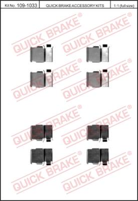 Ремкомплект тормозных колодок MINTEX арт. 109-1033