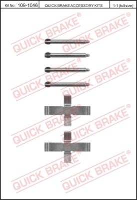 Ремкомплект тормозных колодок MINTEX арт. 109-1046