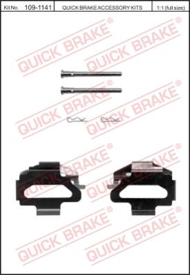Ремкомплект тормозных колодок MINTEX арт. 109-1141