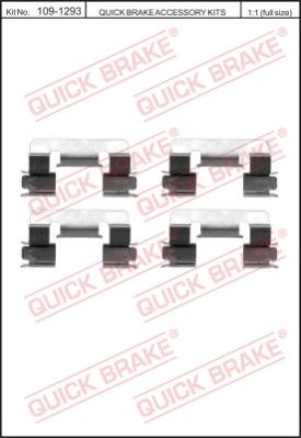 Ремкомплект тормозных колодок MINTEX арт. 109-1293