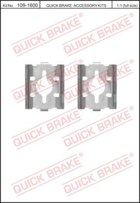 Ремкомплект тормозных колодок MINTEX арт. 1091600