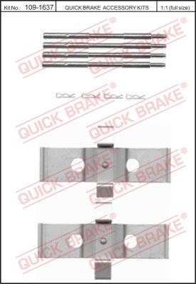 Ремкомплект тормозных колодок MINTEX арт. 1091637