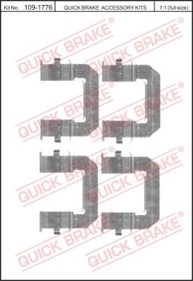 Ремкомплект тормозных колодок MINTEX арт. 109-1776