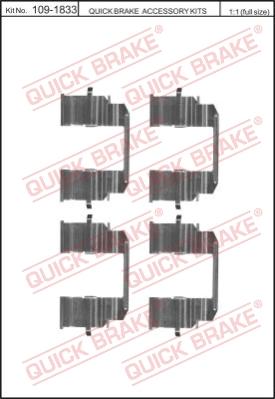 Ремкомплект тормозных колодок MINTEX арт. QB 109-1833