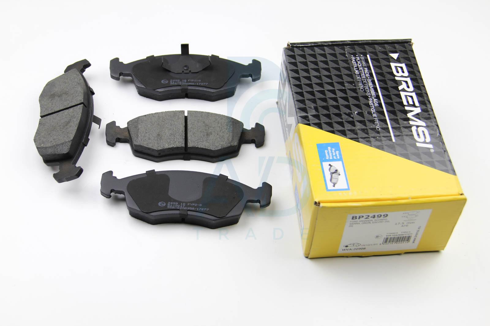 Тормозные колодки передние дисковые MINTEX арт. BP2499