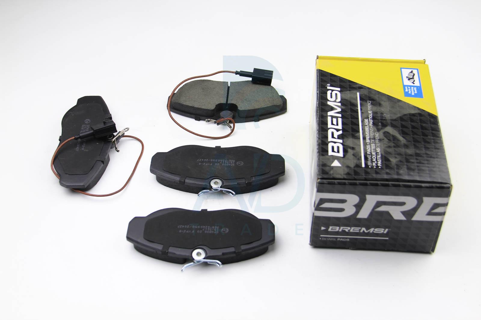 Тормозные колодки передние дисковые MINTEX арт. BP2888