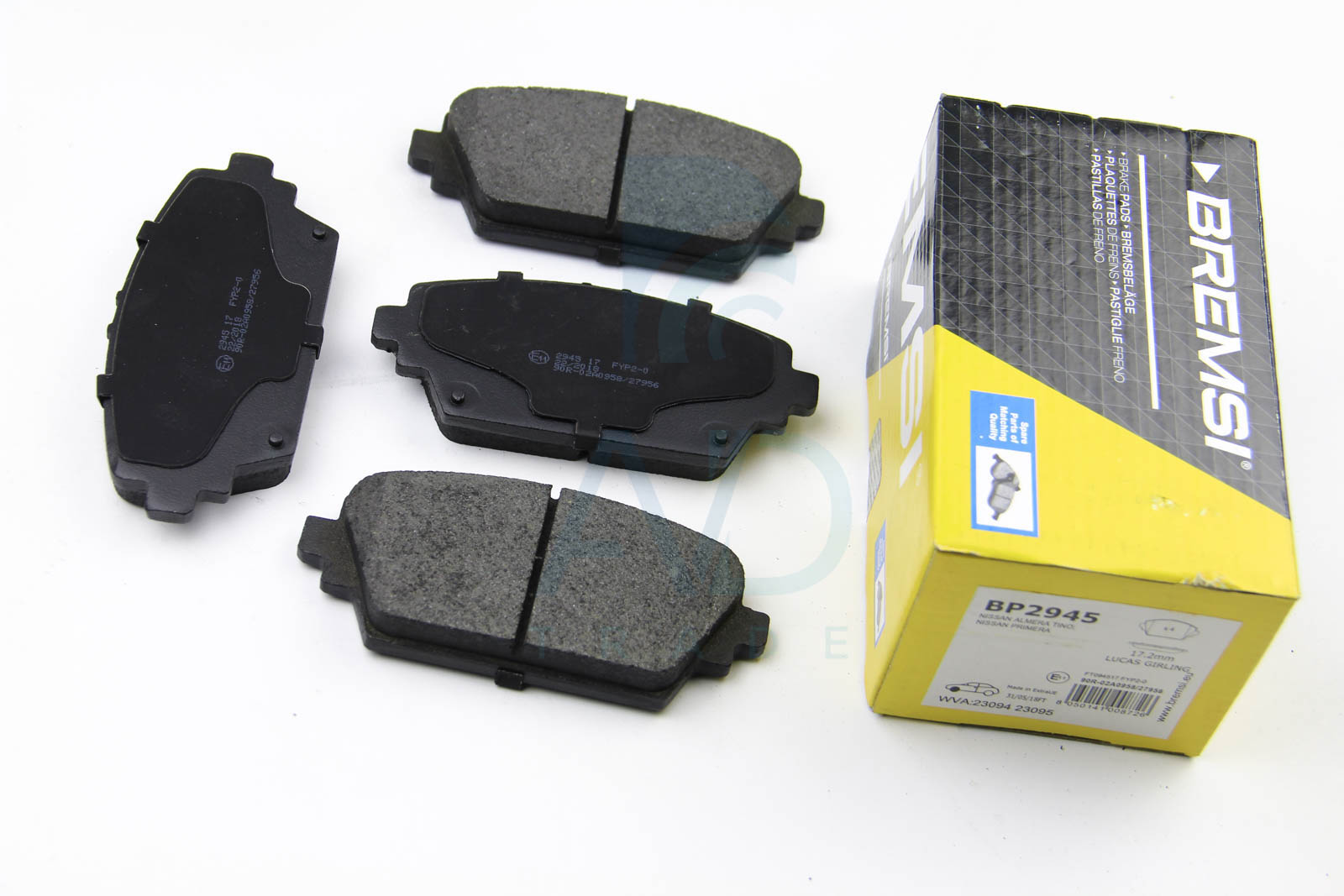 Тормозные колодки дисковые MINTEX арт. BP2945