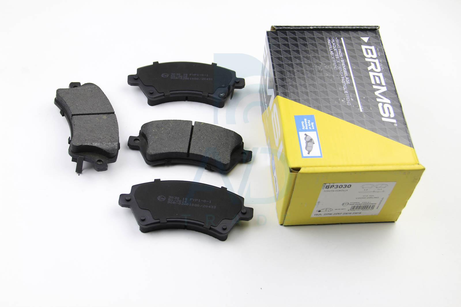 Тормозные колодки передние дисковые MINTEX арт. BP3030