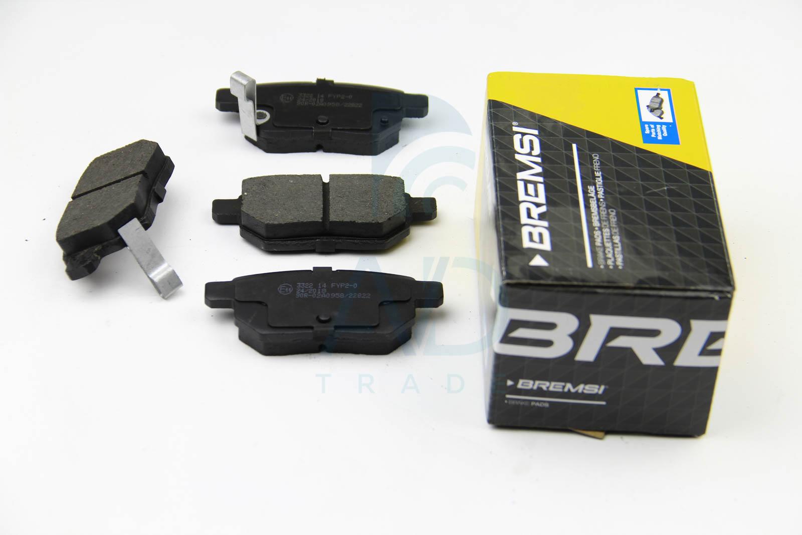 Тормозные колодки задние дисковые MINTEX арт. BP3322